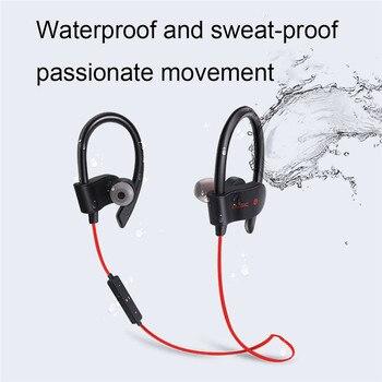 Bluetooth Earphone Wireless Bluetooth Earphones Earloop Noise Cancelling Headset Neckband life Sport In-Ear For All Smart Phones 2