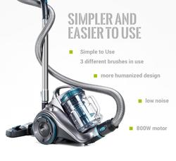 FreeTax PUPPYOO WP9002F beutelloser bodenstaubsaugerPowerful Bagless Cylinder Vacuum Cleaner 800W Multi-Cyclone System Low Noise