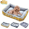 (XS-2XL) Large Pet Cat Dog Bed 5Colors Warm Cozy Dog House Soft Fleece Nest Dog Baskets Mat Autumn Winter Waterproof Kennel