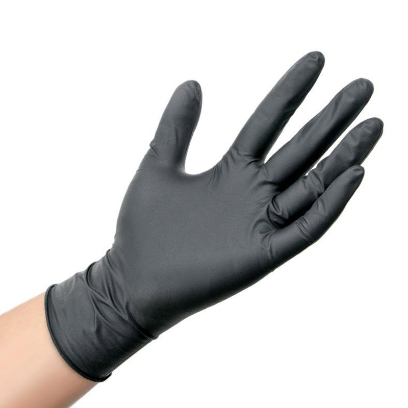 Disposable Black Gloves 100pcs Household Cleaning Washing Gloves Nitrile Laboratory Nail Art Medical Tattoo Anti-Static Gloves