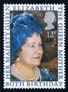 1 sztuk nowy UK GB anglia brytyjski znaczek pocztowy 1980 wielka brytania królowa elżbieta 80. Urodziny znaczki MNH