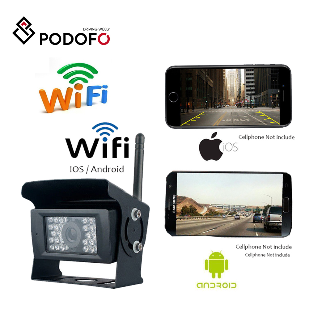 Kamera cofania WIFI kamera na deskę rozdzielczą 28 LED IR Night Vision tylna kamera samochodowa wodoodporny pojazd kamery dla iphonea i androida