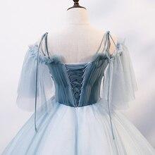 Светло-голубое винтажное бальное платье с вышивкой длинное винтажное средневековое платье Ренессанс Принцесса Виктория Платье