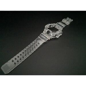 Image 4 - Bracelet et lunette de montre en Silicone, pour GW9400 bracelet de montre, bracelet Transparent et boîtier avec outils