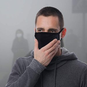 Image 5 - Scione Mouth Mask Black Cotton Mouth Face Masks  Anti Dust Mask Activated Carb Anti Pollution