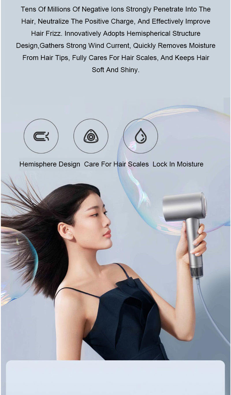 negativo ventilador de alta velocidade professinal haircare