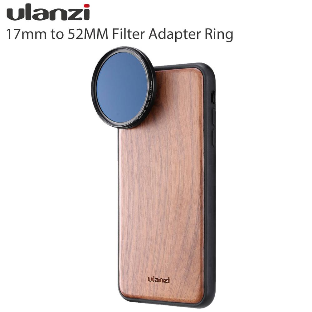 Ulanzi Universal 17MM To 52MM 37MM To 17MM  Phone Camera Lens Filter Adapter Ring  Video Rig Lens Adapter For