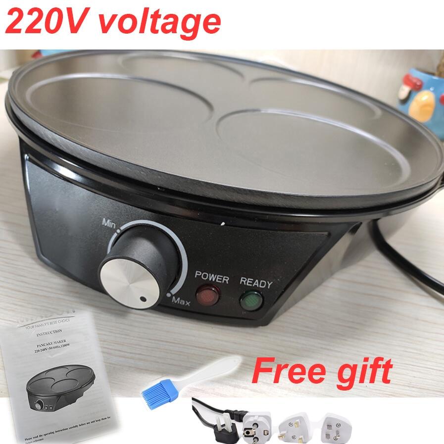 Household Crepe Maker No stick Pancake Machine Electric baking pan machine 4 hole pancake machine Breakfast Machine cake maker|Crepe Makers|   - title=
