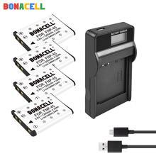 цена на Bonacell 1.2Ah Li-40B Li40B Li-42B EN-EL10 ENEL10 FNP-45 Digital Camera Battery+LCD Charger For Olympus Nikon Fujifilm KodaK