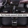 Midoon Lederen Auto Vloermatten Voor Honda Accord 2004 2005 2006 2007 Custom Auto Voet Pads Auto Tapijt Cover