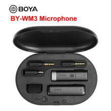 BOYA BY WM3 Wireless Lavalier Microphone Condenser Interview Mic for DSLR Type C IOS Phone Recording with Charging Box BY WM 3