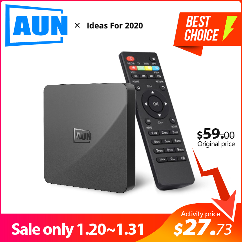 AUN <font><b>BOX</b></font> 1 <font><b>Android</b></font> 9.0 <font><b>TV</b></font> <font><b>Box</b></font>, 2GB RAM + 16G ROM. 4K Ultra HD Dekodierung, WIFI HDMI2.0 Google Player Set <font><b>Smart</b></font> Top <font><b>Box</b></font> image