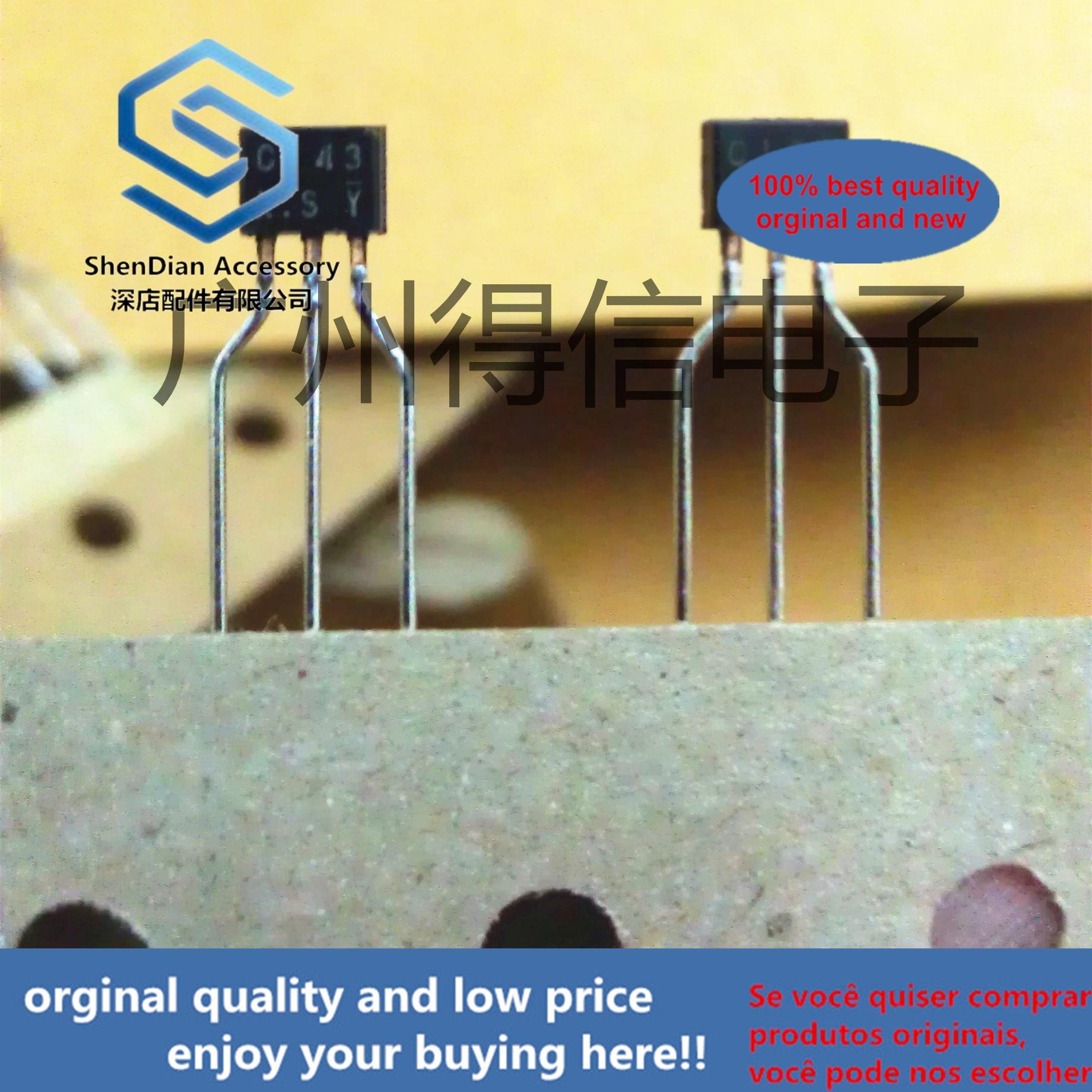 30pcs 100% Orginal New DTC143XS C143XS TO-92S General Purpose NPN Digital Transistors (Built-in Resistors) Real Photo