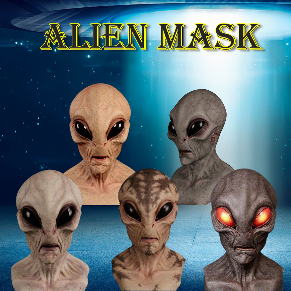Big Eyes Horror Alien Mask Full Head Latex Mask