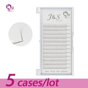 Image 1 - Jeyelash Pre made fans 3D volume eyelash extensions, heat bonded lashes ,5 trays/lot J & S faux mink eyelashes