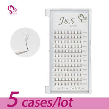 Jeyelash Pre made fans 3D volume eyelash extensions, heat bonded lashes ,5 trays/lot J & S faux mink eyelashes - DISCOUNT ITEM  15% OFF All Category