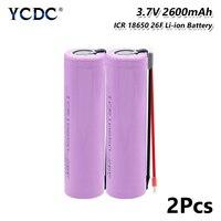 Nuova batteria 18650 per batteria samsung 18650 batterie ricaricabili da 3.7v batteria agli ioni di litio ICR18650 da 2600maH Max.20A per torcia