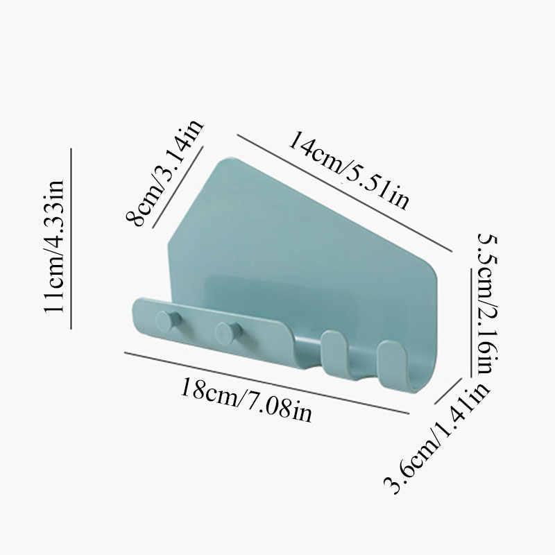 ポータブル壁マウント 4 フック充電器携帯電話ホルダーフック壁キッチン痕跡ぶら下げタブレット充電スタンドブラケット
