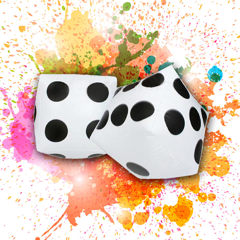 28cm Jumbo Large Inflatable Dice Dot Diagonal Giant Toy Party Ludo Air Toy Accessories Kids Toys Juguetes Zabawki Brinquedos