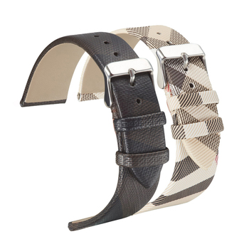 Leather strap for burberry watch Plaid Watch Band Strap Leather for Men and Women Black Checked Wrist Watch Strap Classical isunzun watch band for cartier w7100037 w7100041 genuine leather watch strap for men and women leather watchband free shipping