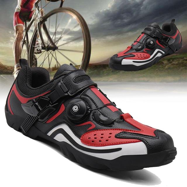 Sapatos masculinos para ciclismo de estrada, calçados para bicicleta de montanha, mtb, mountain bike, tênis de corrida triathlon 1
