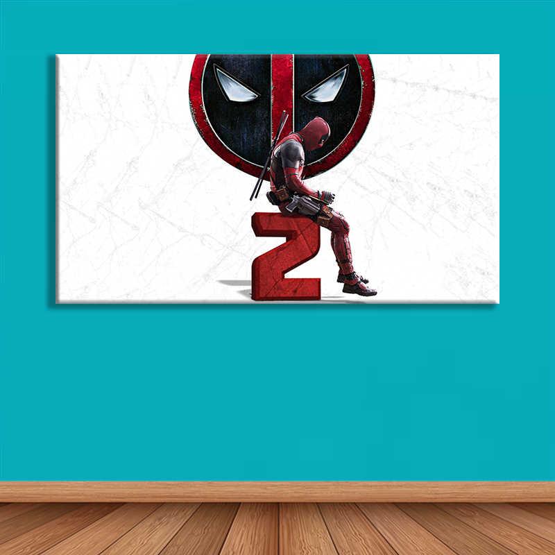 Baskı sanat Deadpool poster Marvel Deadpool baskı tuval üzerine Deadpool boyama X erkekler baskı posteri ev dekor Deadpool 2 baskılı sanat