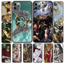 Aartsengel Raphael God Geneest Genaden Zwarte Tpu Case Cover Voor Iphone 5 5S 6 6 S 7 8 Plus X Xs Xr 11 Pro Max(China)