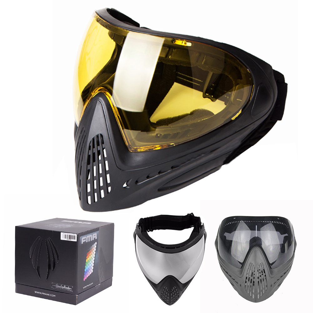 FMA F1 Paintball Mask Tactical Equipment Full Face Masks Safety Protective Anti-fog Goggle Outdoor Airsoft Glasses