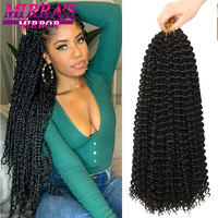 Passion Twist Hair 18/24 Inch Water Wave Crochet Passion Twist Hair Braids Synthetic Crochet Braiding Hair Extensions