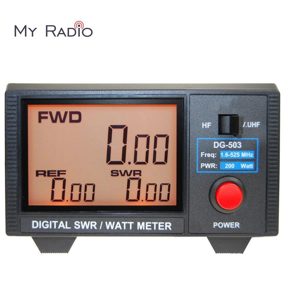 Original Nissei DG-503 Digital SWR & Watt Meter 1.6-60MHz/125-525MHz For Handheld Mobile Base Station Radio Tester