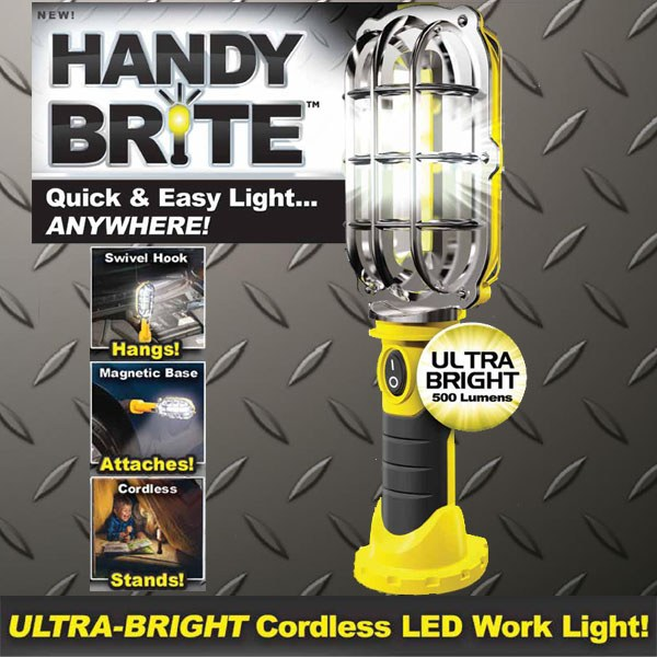 New Hot Sale Handy Ultra-Bright Cordless Brite LED Work Emergency Light 500 Lumens Hands-Free Magnetic Base