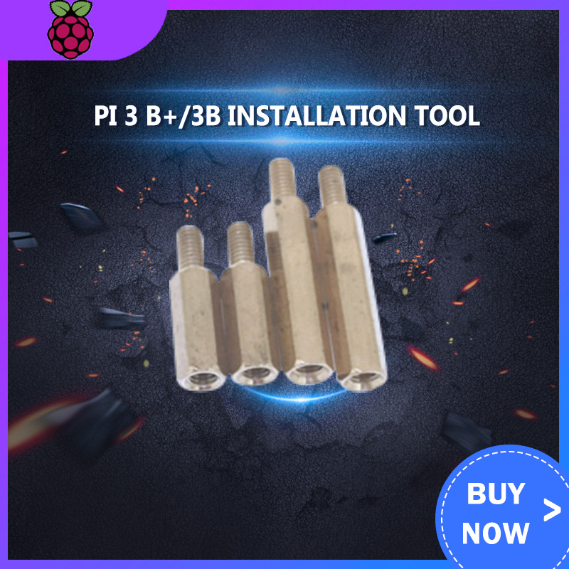 Raspberry Pi 3 B+/3B Installation Tool 120Pcs M3 Series Hex Brass Spacer/Standoff+Nuts+Screws W/ Storage Case Accessories Kit