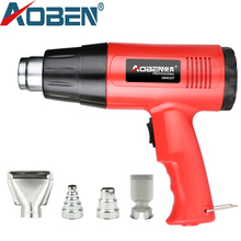 цена на AOBEN 2000W Heat Gun 220V Temperature Adjustable Hot Air Gun Shrink Wrapping Home DIY with Four Nozzle Industrial Hair Dryer