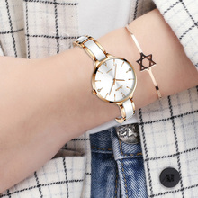 Ceramic Watch Simple Diamond Clock Casual Fashion