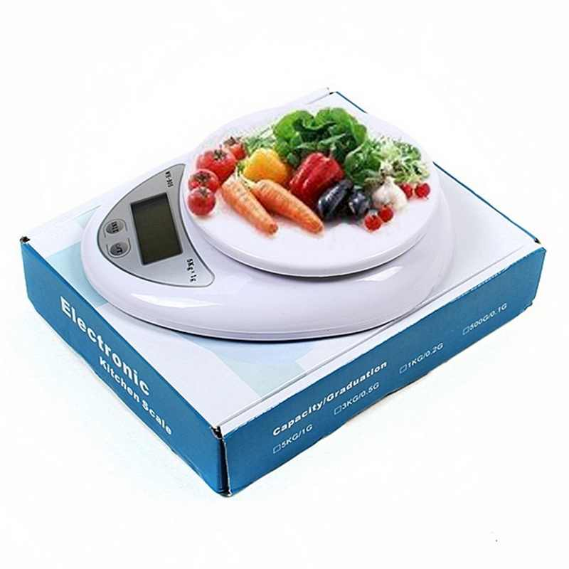 5 kg/1g Balance de cuisine numérique pesage électronique alimentation santé alimentation mesure de haute qualité Balance de précision Balance bijoux échelle