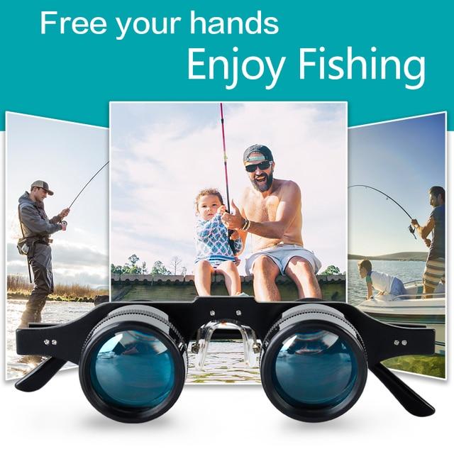 Fishing Binoculars Portable Telescope Zoom Magnifier Night Vision Binocular for Hunting Outdoor Tool 3