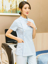Nurse uniform for short sleeve lady cotton plus-size two-piece hospital beauty salon dental clinic pet hospital uniform