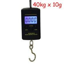 40kg x 10g mini escala digital para bagagem de pesca pesando viagem steelyard portátil eletrônico pendurado gancho escala ferramenta cozinha