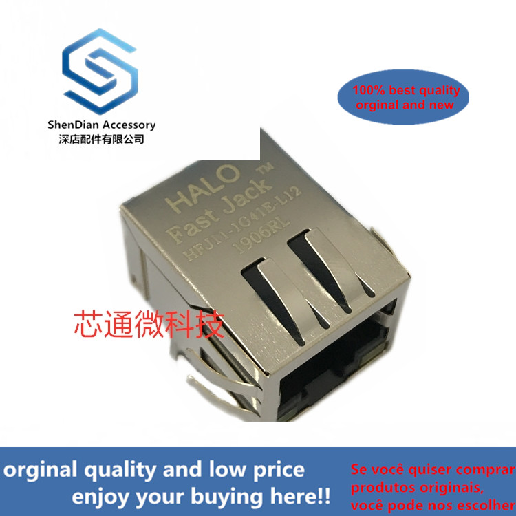 2-10pcs 100% Orginal New Best Qualtiy  HFJ11-1G41E-L12RL HALO RJ45  Real Photo