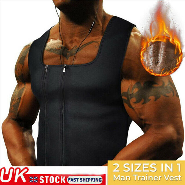 Men's Hot Sweat Body Shaper Slimming Belt Belly Men Slimming Vest Fat Burning Shaperwear Waist Sweat Corset Tummy Fat Jumper Top