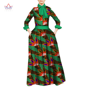 2019 summer bazin riche traditional african dress Two Piece Set cotton Plus Size Dashiki 7xl natural african skirt suits WY2023