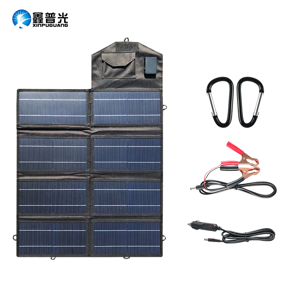 Xinpuguang 18V 50w Solar Panel 12V Foldble Solar Charge 50 W Mobile Phone Usb Outdoor Solar Panels For Camping/Boats/Home