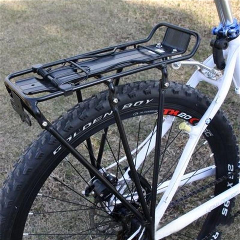 Liga de bicicleta cremalheiras mtb alumínio portador da bicicleta traseiro rack de bagagem prateleira suporte ciclismo rack transportadora panniers saco peças da bicicleta