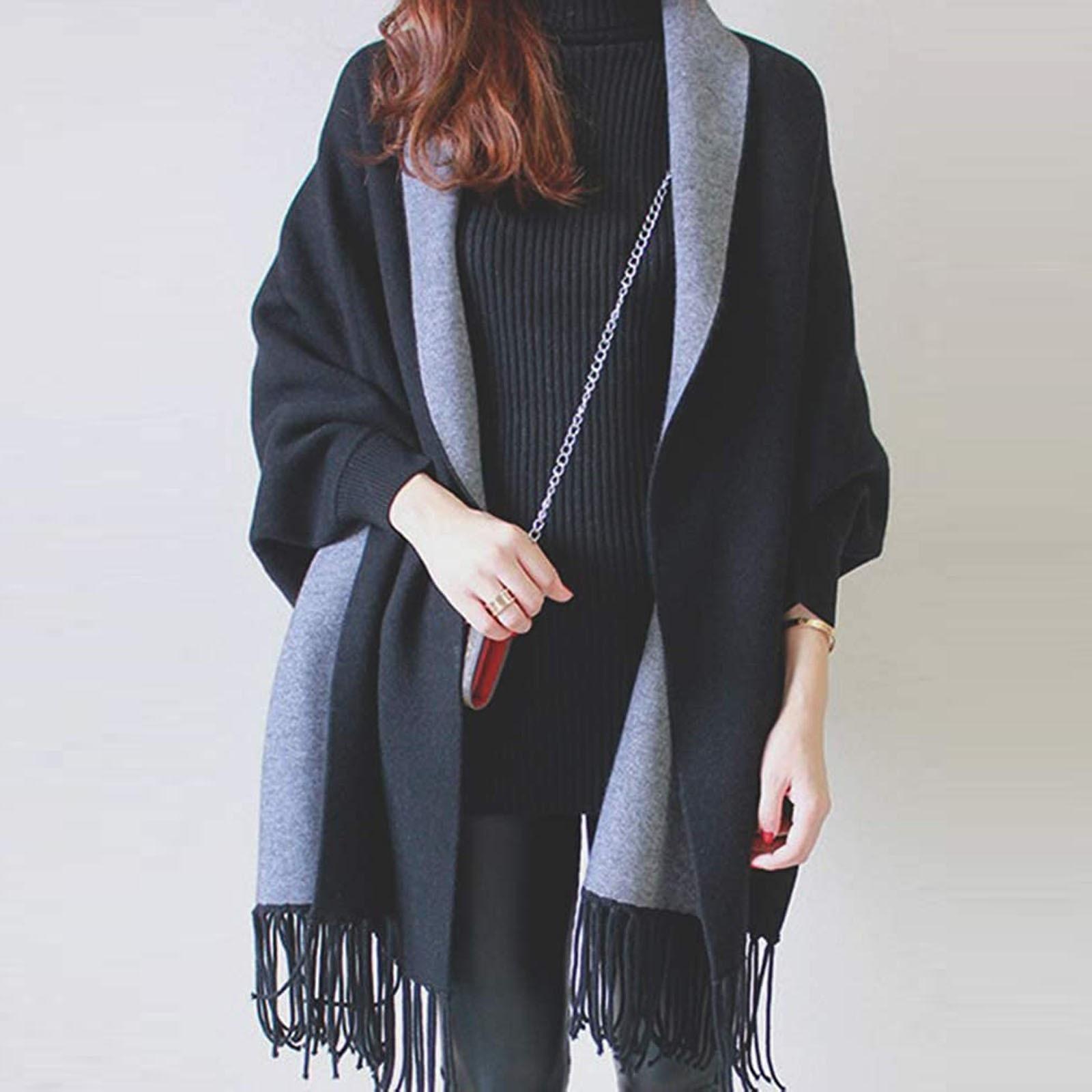 4# Fashion Women Scarf Casual Solid Tassel Retro Double Sided Scarf Wrap Shawl Holiday Commuting Warmer Scarves шарфы женские
