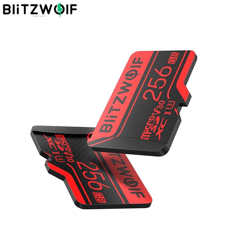BlitzWolf BW-TF2 مايكرو SD بطاقة مع محول فئة 10 U3 بطاقة الذاكرة TF بطاقة 32G 64G 128G 256GB للكاميرا UAV مسجل التخزين