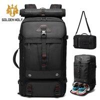 Goloen Wolf Fashion Bag Pack zaino da viaggio di grande capacità per uomo zaini da arrampicata impermeabili borsa da esterno per ragazzi