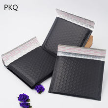 10pcs Wholesale Matte Black Bubble bag Mailers Padded Envelopes Shipping Bag Self Seal Mailing Envelope Bags Business Supplies(China)
