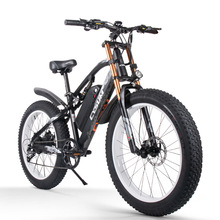 Hydraulic-Disc-Brake Electric-Bicycle Bicycle-9-Speed 1000W Fat-Tire Off-Road 48V 17AH