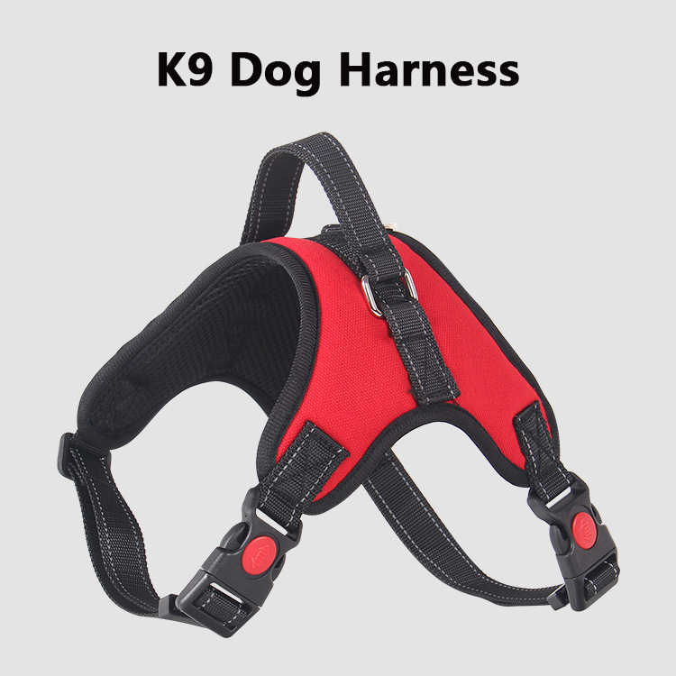 Anti-Burst Hund Harness K9 Pet Brustgurt Weste für Medium Large Hunde Blau/Schwarz/Rot/lila/Camouflage/Rosa