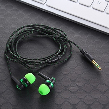 Hot MP3 mp4 Wiring Subwoofer Headset Earbud Braided Rope Wire Cloth Rope Earplug Noise Isolating Ear